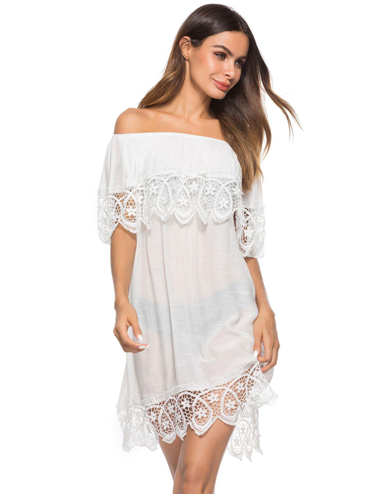 3e1c29b20b9 2019 Sarongs For Beach Cover Up Tunics Swimwear Women Dress Wear Women S Plus  Size 2018 New Lace Sexy Sunwear Skirt Animal Cotton From Wangleme0