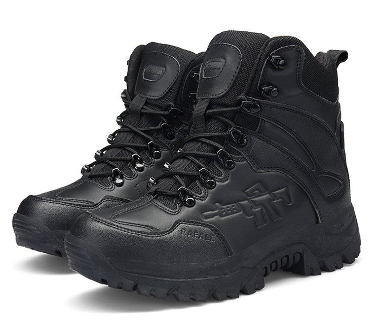 Mens Military Tactical Boots Leather Desert Outdoor Combat Army Boots  Hiking Shoes Travel Botas Male Trekking Boots 45 46 Black Boots For Women  Platform ... 4604759cd20