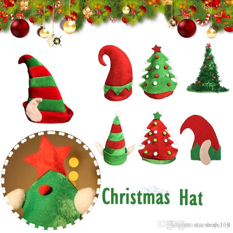 Compre Sombreros De Elfo Navideño Árbol De Navidad Cálido Franela Gorros  Gorros Para Adultos Y Niños Cosplay Fiesta De Disfraces Sombrero Decoración  De ... 04d0e3a8c17