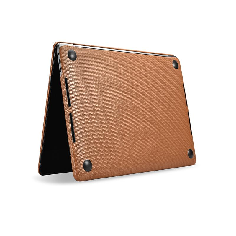low priced b5359 33649 Genuine Leather Cover Case For MacBook Pro 13 15 inch New 2017 Case Sleeve  Luxury Leisure Laptop Bags & Cases