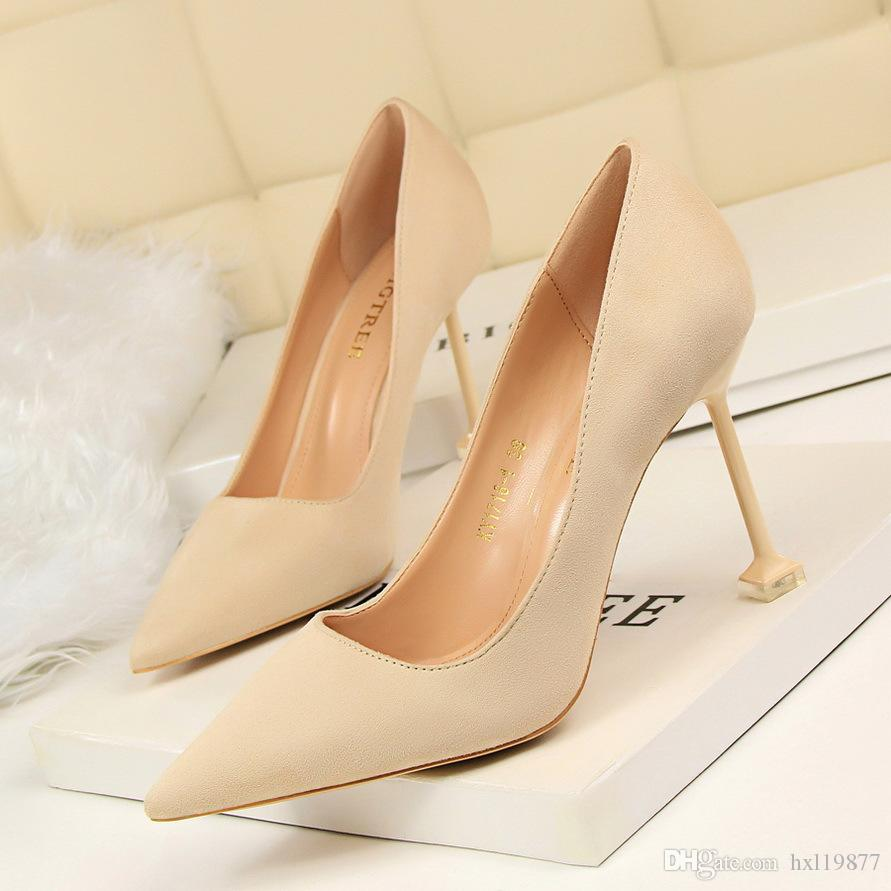 BIGTREE New Bestselling Shoes Woman Pumps European Elegant Banquet Shoes Pointed Toe Women Pearl High Heels Shoes 1716 1
