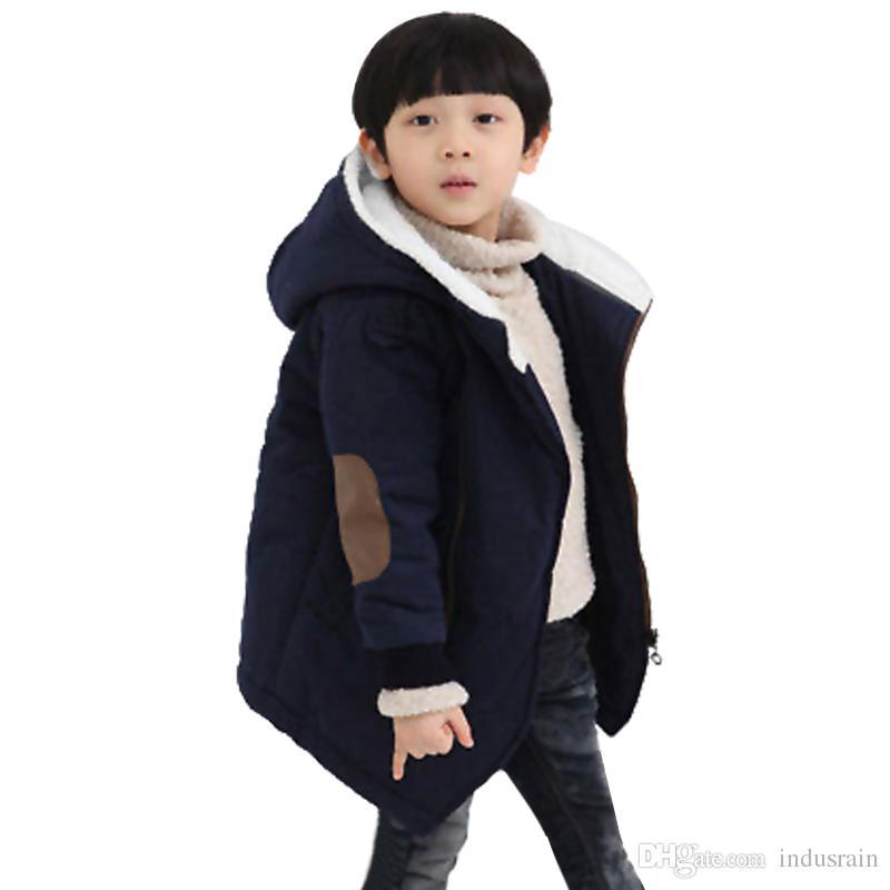 724da7cbf0b9 Autumn Winter Kid S Fashion   Casual Jackets Boy S Cashmere Long ...