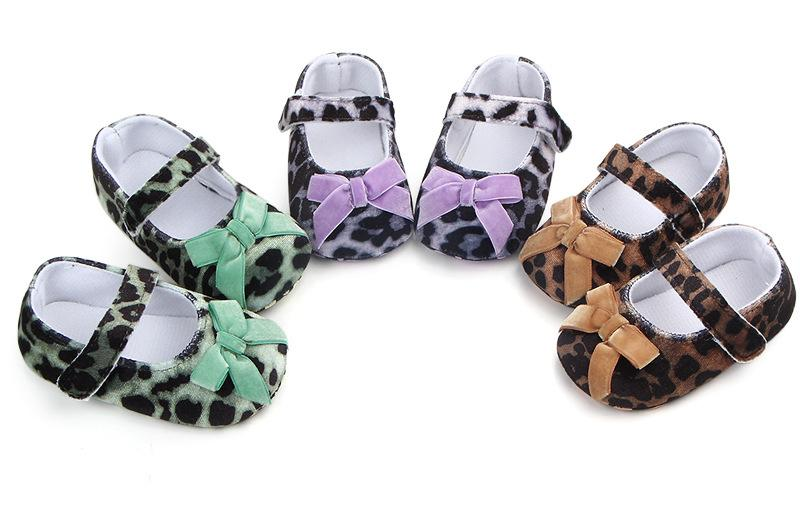 2e5295a4a New Leopard Pattern Baby Girl Shoes Fashion Butterfly-Knot First ...