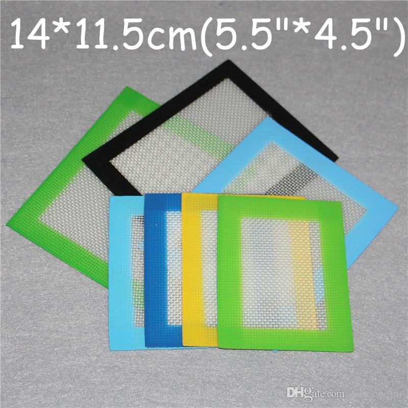 Almofadas de cera de silicone erva seca tapetes grandes 14 * 11.5 cm mat quadrado dabber folhas frascos dab ferramenta para plataformas de óleo de silício