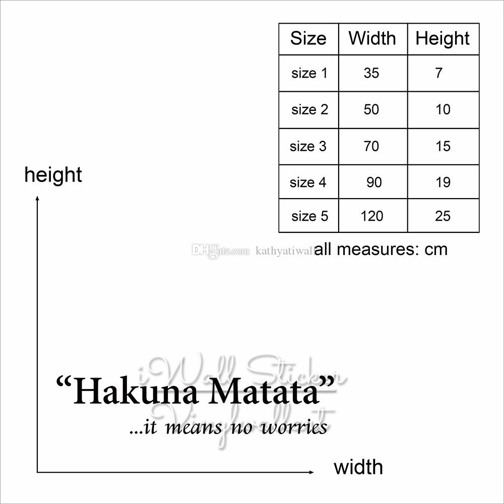 Hakuna Matata Quote Wall Sticker It Means No Worries Quotes Wall Decal  Inspirational Wall Lettering Motivational Decors Cut Vinyl Q204 Boys Wall  ...
