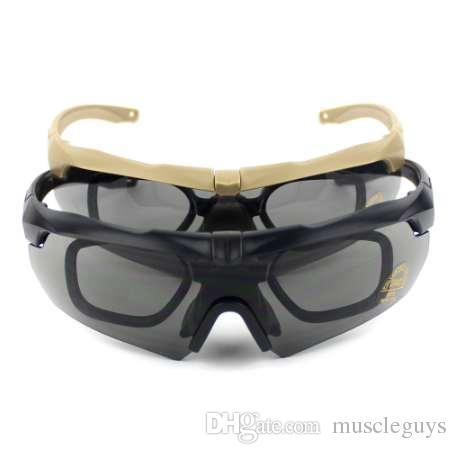 720196cc4ca99 Compre Polarizada 3 5 Lens Esporte Tiro Óculos De Sol Óculos De Proteção  Militar Tático Óculos Airsoft Óculos De Caminhada Ao Ar Livre Óculos De  Muscleguys