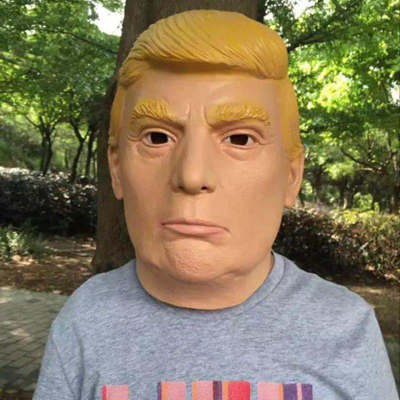 2018 New Donald Trump Mask 억만 장자 대통령 의상 할로윈 Celebrity Cosplay Mask 라텍스 가상 코스튬 카니발 마스크
