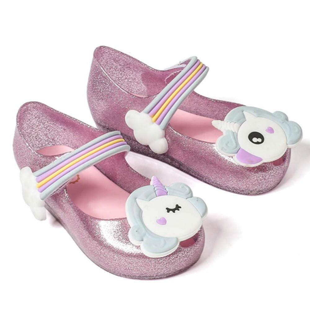 8720da43b7bff ... 2018 Low Price Unicorn New Summer For Mini Shoes Girls Sandals Jelly  Shoe Fish Mouth Baby  Fashion ...
