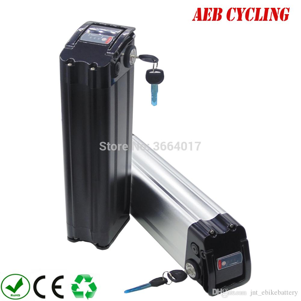 Free Shipping AU EU US 48V 15AH Folding electric bicycle battery Silver Sish batteries 30A BMS para 750W 1000W motor+Charger