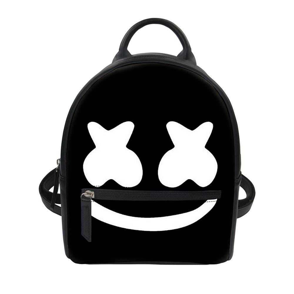 94d27618b498 Noisydesigns Marshmello Printed Funny Lovely Silly Express School Bag For  Bags Girl Small Shoulder Book Bags Daily WomenBackpack Mens Backpacks Swiss  Army ...