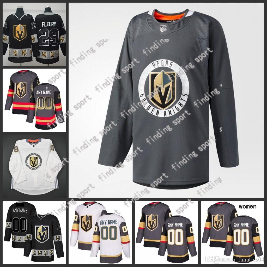 b45cec2b238 Custom 2019 Stitched Vegas Golden Knights Men Women Kids Train ...