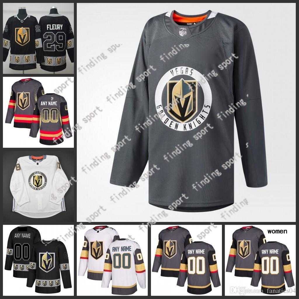 Custom 2019 Stitched Vegas Golden Knights Men Women Kids Train ... 8df8885f8