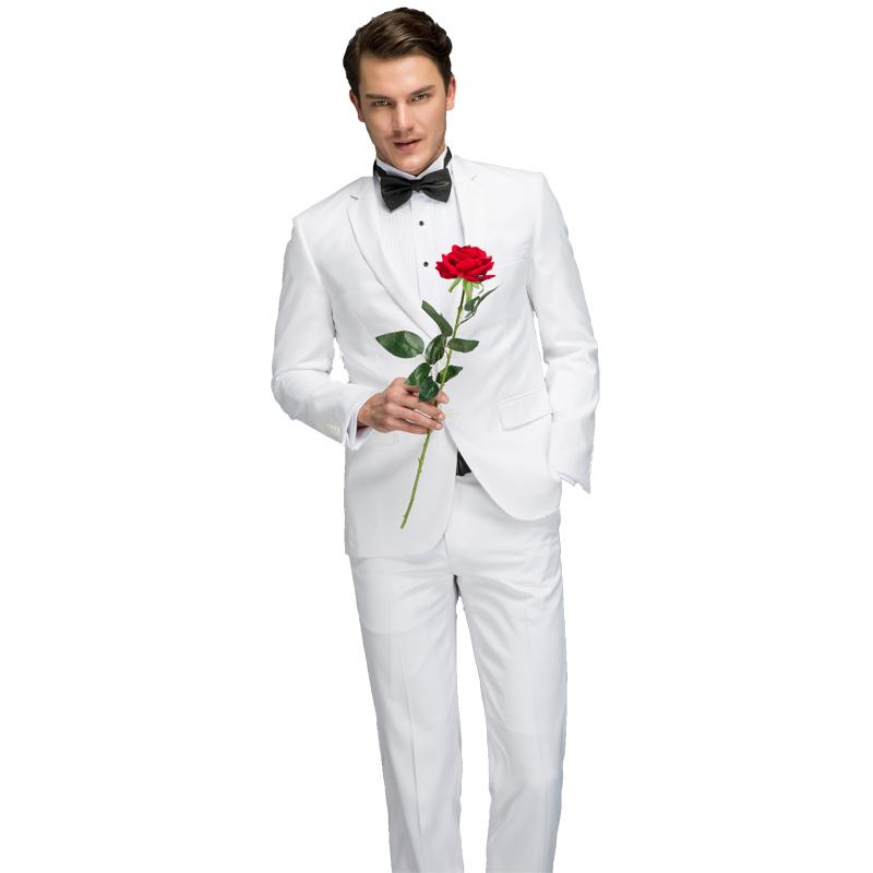 1b6e483de7 2019 Mens White Suit 2018 Latest Coat Pant Designs Suit Formal Wear Suits  Set With Pants Male Slim Fit White Costume Prom Dress From Nevalee, ...
