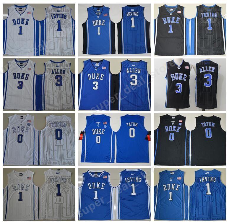 ... real best college duke blue devils jerseys basketball 0 jayson tatum 1  kyrie irving jersey men 7792efaaf