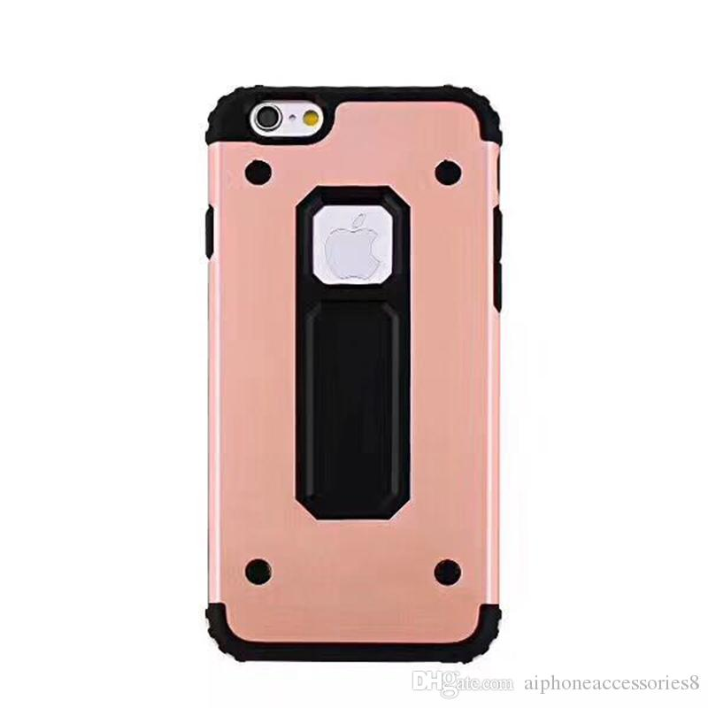 MOTOMO 7 plus hybrid 2 in1 hard armor case shockproof kickstand anti shock cases luxury mobile phone covers for iphone X 7plus