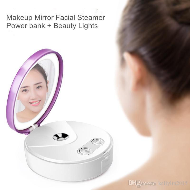 نانو ميست البخاخ الوجه الباخرة بقيادة ماكياج مرآة المحمولة USB قوة البنك البسيطة ترطيب الوجه الجسم رذاذ أدوات العناية بالبشرة الجمال