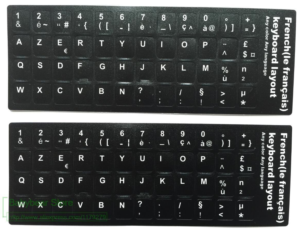 French Keyboard Sticker Franch Azerty For Laptop Desktop Keyboards Diagram Stickers 116 12 133 14 154 173 Inch Pc Cover Silicone