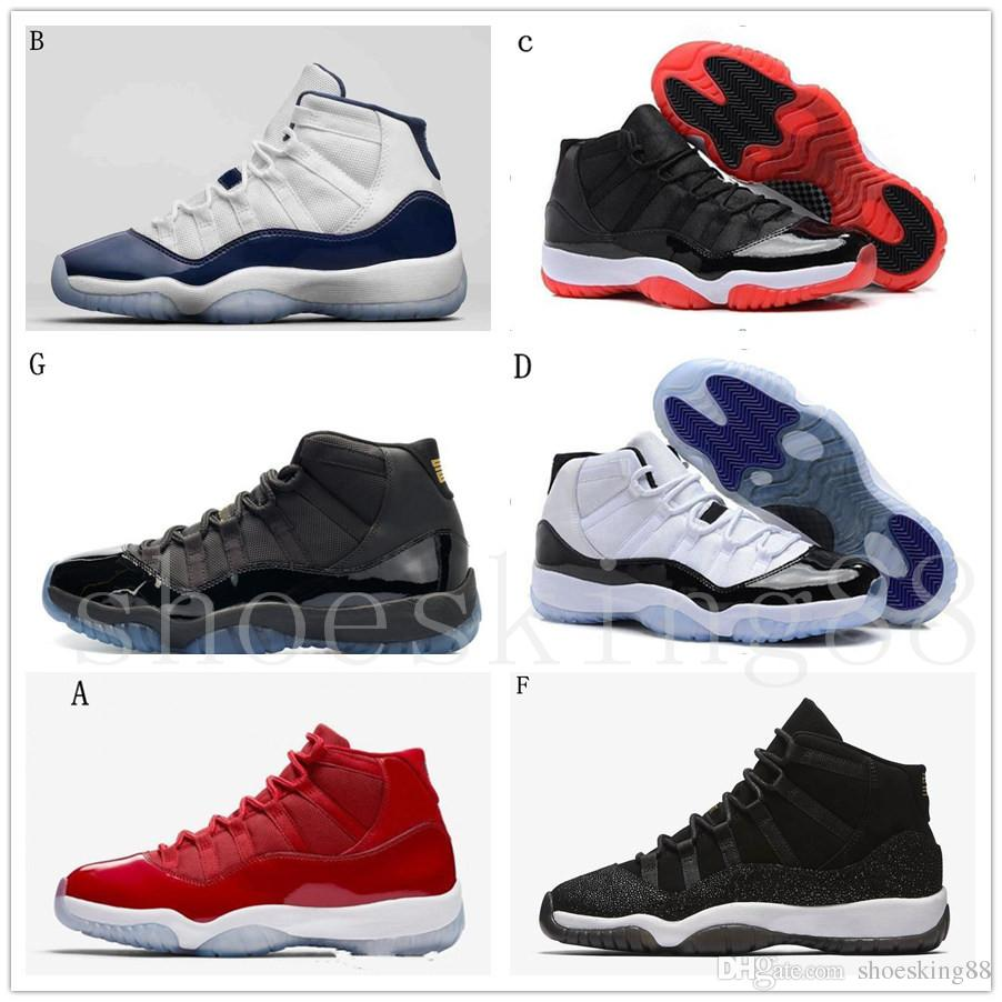 5b9025dd49a 2018 High Quality 11 11s Space Jam Bred Concord Basketball Shoes Men Women  11s Gym Red Midnight Navy Gamma Blue 72 10 With Box Running Clothes Sports  Shoes ...