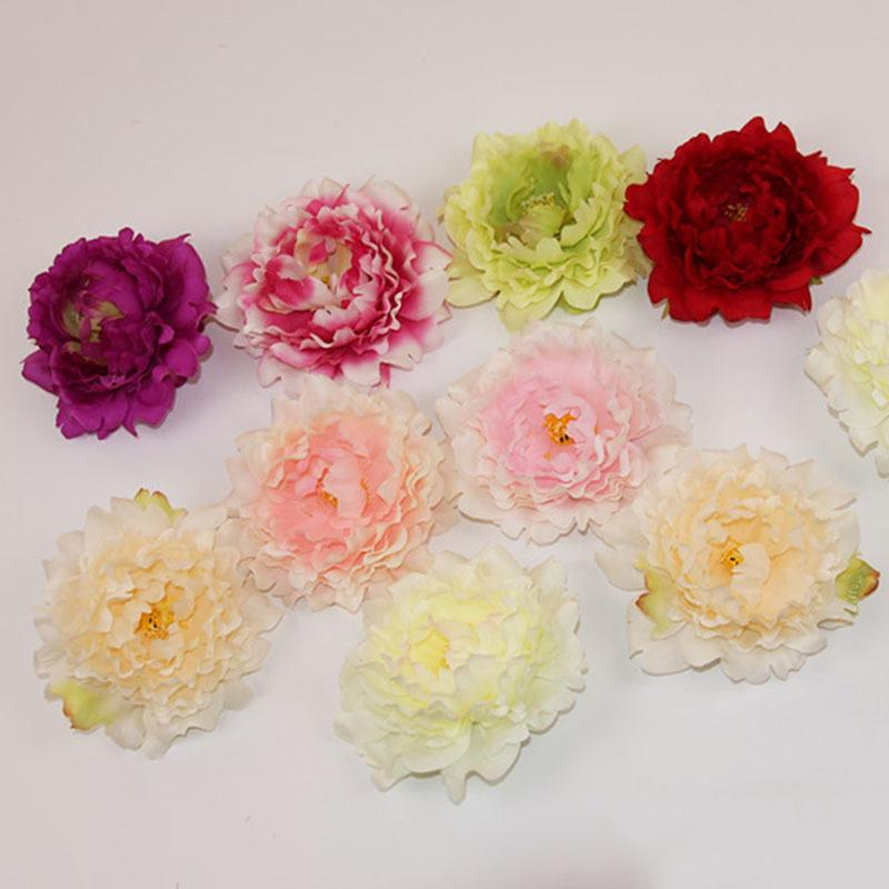 Best Quality Diy Artificial Peony Flower Heads Silk Decorative ...