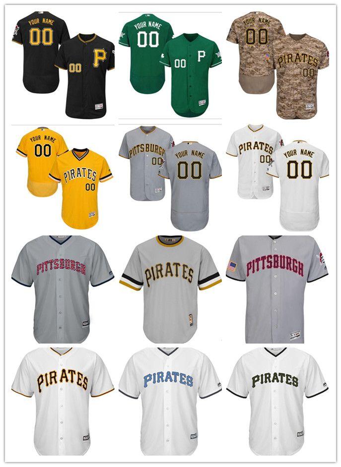 7065dbe5c custom Men s women youth Majestic Pittsburgh Pirates Jersey Personalized  Name and Number Orange Grey White Kids Girls Baseball Jerseys