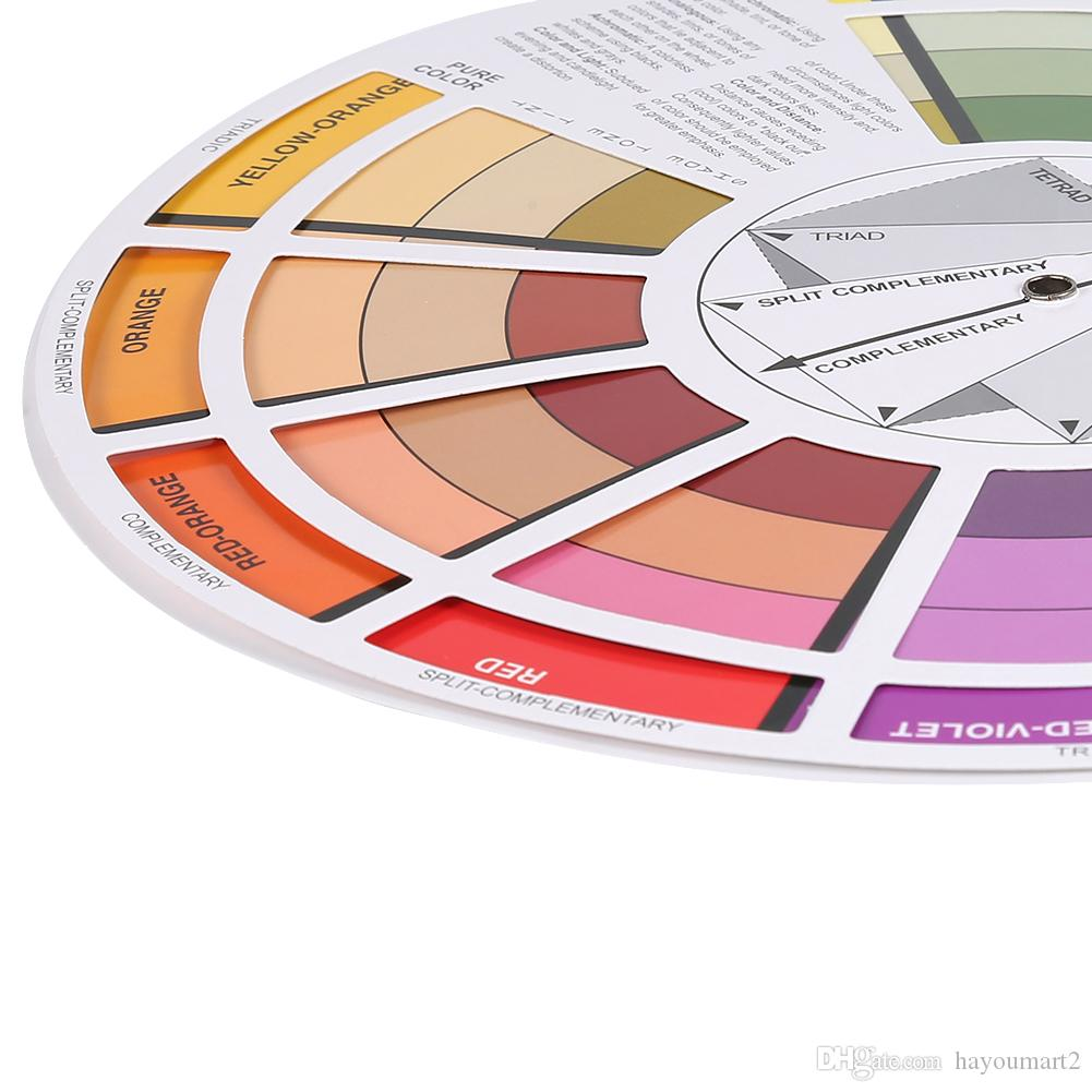 Accesorios de tinta para tatuajes Maquillaje permanente Micro pigmento Guía de la rueda de color Seleccionar mezcla de colores Pigmentos del tatuaje Rueda Muestra del cabello