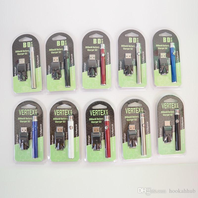 VERTEX 350 мАч VV Подогрев батареи 510 Резьба батареи Переменное напряжение Vape Pen Электронные сигареты Подогрев батарей для масляных картриджей
