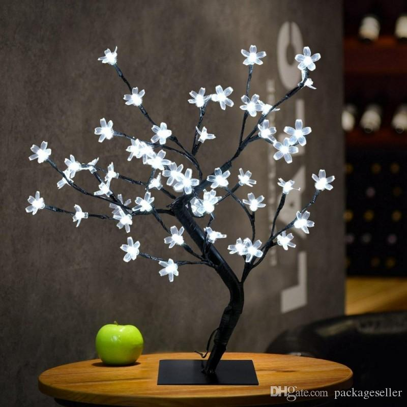Garden Decorations Wholesaler Packageseller Sells Crystal Cherry Blossom 48  Leds Tree Light Night Lights Table Lamp 45cm Black Branches Lighting  Christmas ...