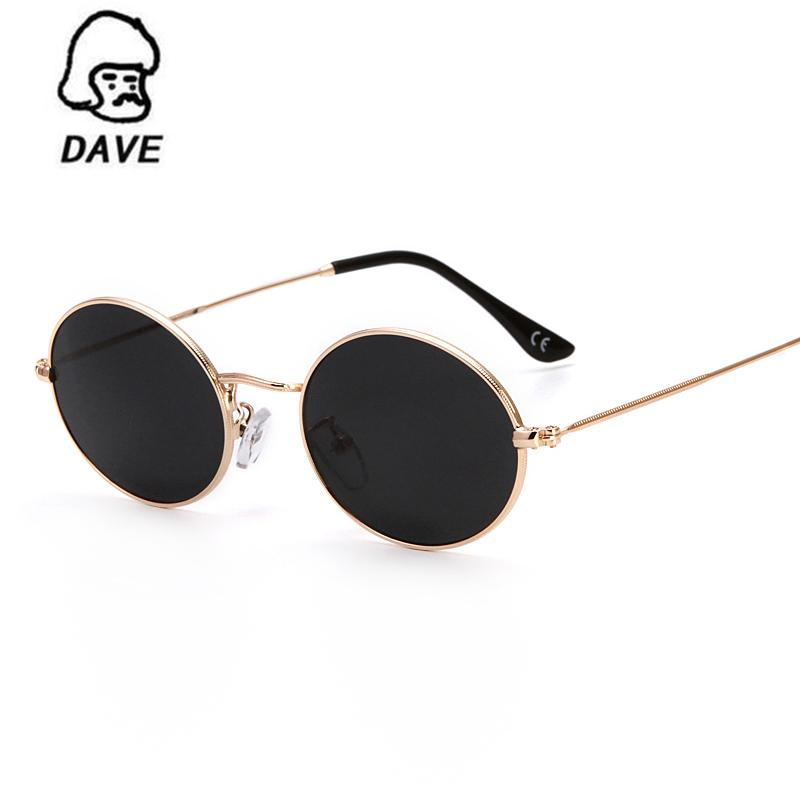 05cffc388891 DAVE Classic Small Oval Sunglasses Women Men Brand Designer Metal Frame Sun  Glasses Unisex Vintage Eyewear Oval Driving UV400 Custom Sunglasses Heart  Shaped ...