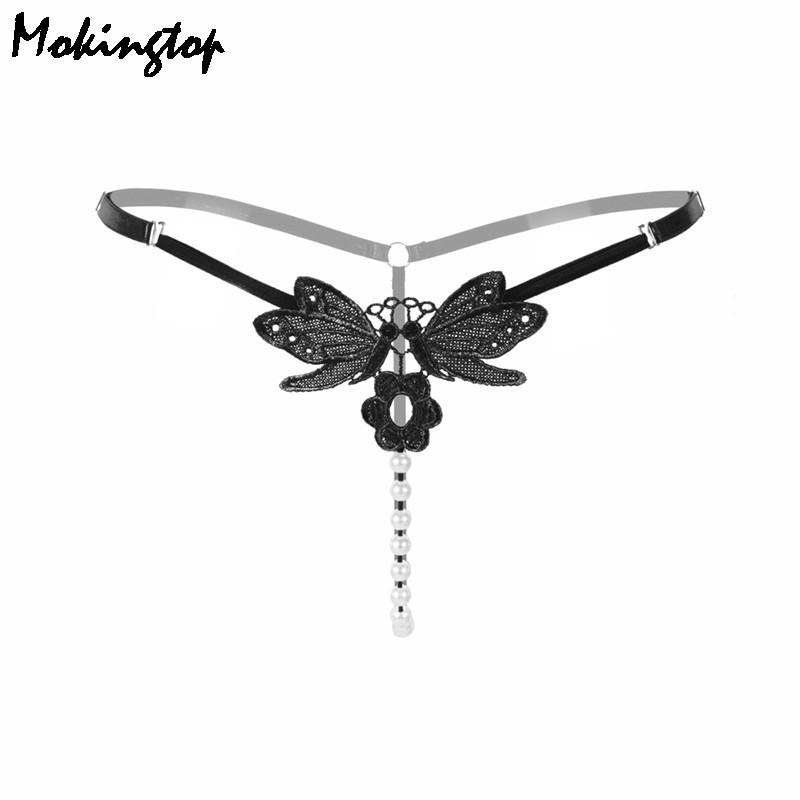 d06dc700b 2019 2016 Adjustable Size Sexy Pendant Lady Embroidery Pearl G String Women  Panties Low Waist Thongs Underwear Briefs Beads Panties From Clothwelldone