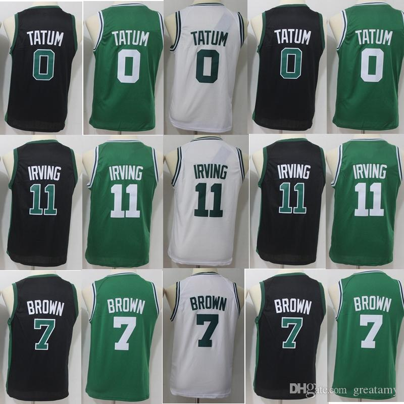 premium selection 41ee8 ec67a 2019 New Season Youth Kids 11 Kyrie Irving 7 Jaylen Brown 0 Jayson Tatum 33  Larry Bird 100% Stitched Jerseys College mixed
