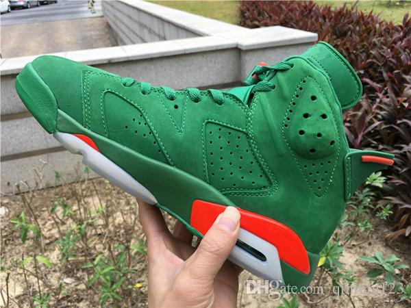 0dc3cf42a6768b Wholesale With Box New 6 VI Gatorade Green Suede Red Carmine Men Basketball  Shoes White Women Sneakers Trainers Size 5.5 13 Cheap Sneakers Basketball  Shoes ...
