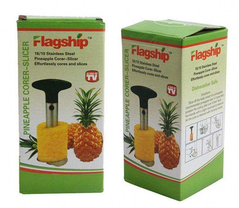 Créateur en acier inoxydable des fruits d'ananas Corner Ananas Slicers Outils de cuisine Ananas Peeler Peeler Couteau