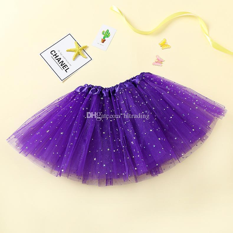 Neonato TUTU Gonne Fashion Net yarn Paillettes stelle neonate Principessa gonna Halloween costume i bambini gonna di pizzo C3787