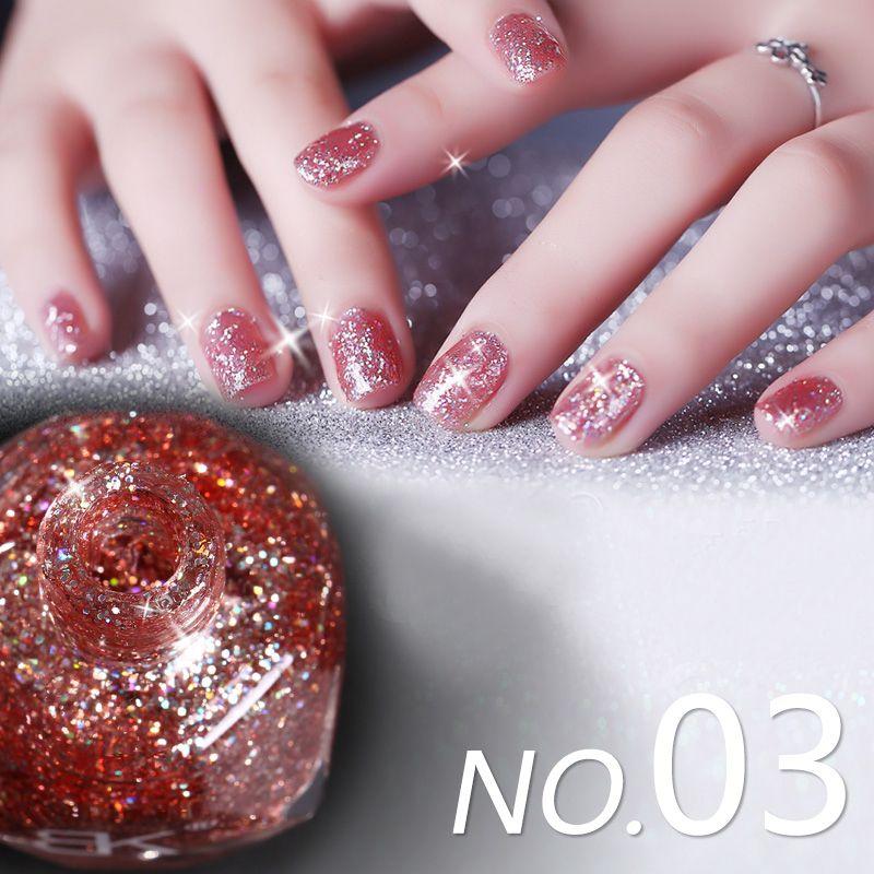 Wholesale 10mlbottle Shining Glitter Nail Polish Pink Series