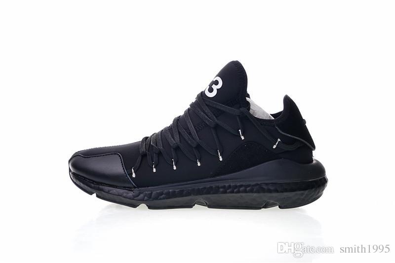 new styles 7fc60 d792b Top Quality Y 3 Kusari Real Men Running Shoes Black White Fashion Y3  Sneakers Size EUR 40 45 Spikes Shoes Best Running Shoe From Smith1995,   65.99  DHgate.