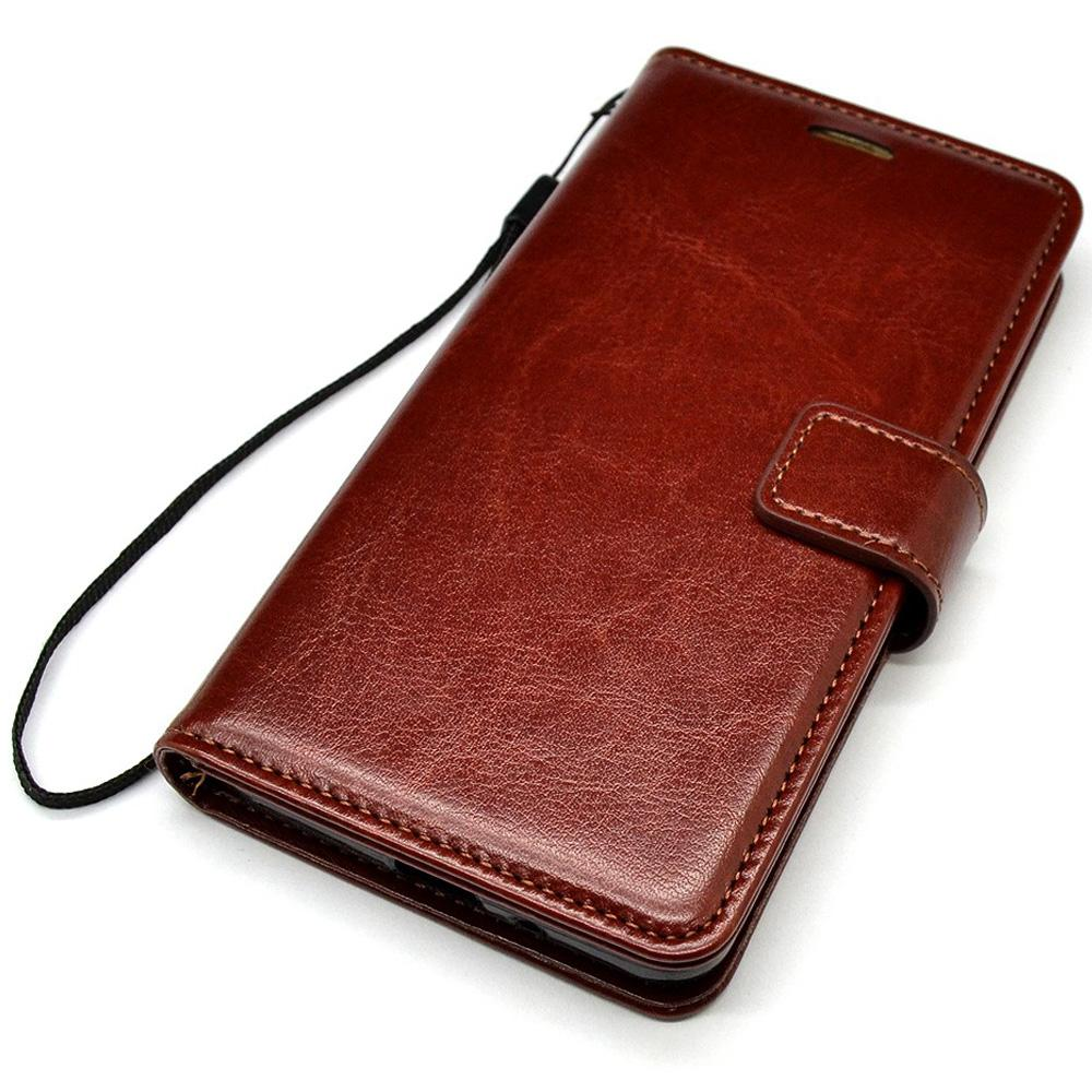 Flip leather Case for Oneplus 6 TPU + PU Leather Magnetic Book Wallet Cover Pouch With Lanyard