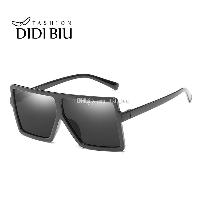 3b2a459ee0f DIDI Steam Punk Oversize Shield Sunglasses Women Men Reflective ...