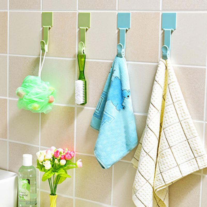 2018 Household Wall Hook Hanger Use For Kitchen Bath Door Back Walls ...