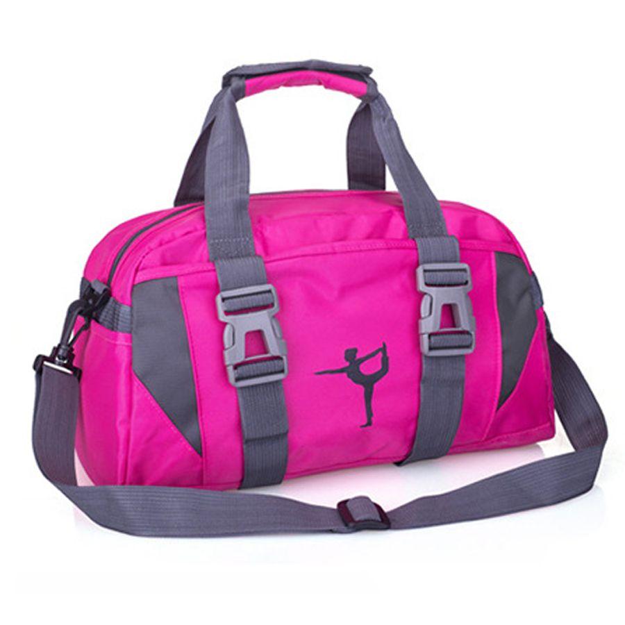 Compre NEWBOLER Gym Bag Hombres Mujeres Rosa Fitness Impermeable Deporte Al  Aire Libre Gimnasio Bolsas De Hombro Duffel Bag Gym Para Yoga Mat 20L A   30.65 ... 9ff55738199c7