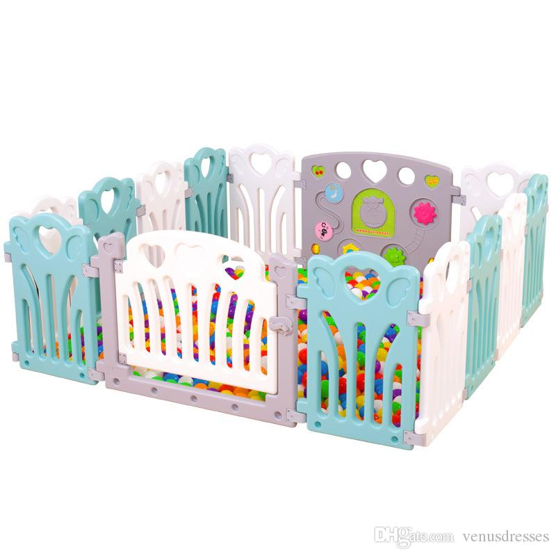 2018 New Style Colorful Baby Game Play Fence Indoor Safe Protection