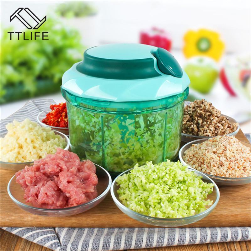 2018 ttlife multifunction vegetable chopper cutter processor chopper garlic cutter vegetable fruit twist shredder manual meat grinder from yiruishen
