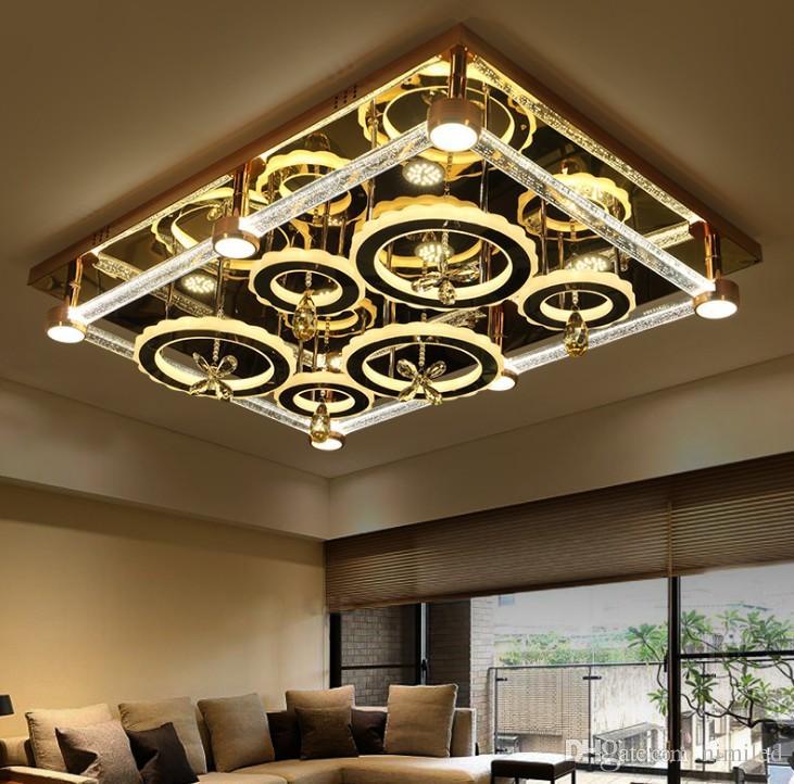 Moderne Led Deckenleuchte Blase Spalte Kristall Wohnzimmer Lampe Rechteckig Wohnzimmer Atmosphare Schlafzimmer Zimmer Lampe Drei Farben Llfa