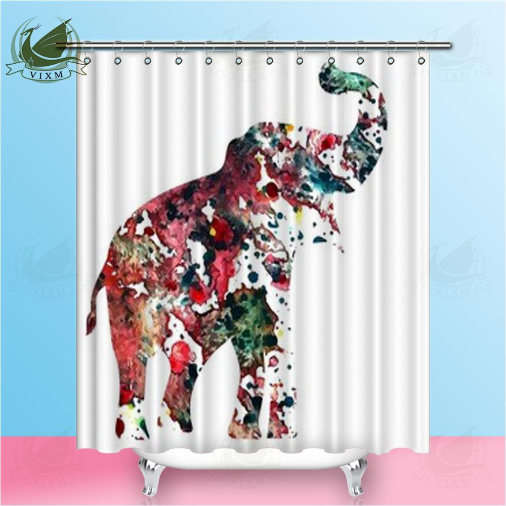 2018 Vixm Home Hand Drawn Map With Elephant Fabric Shower Curtain Pattern Bath For Bathroom Hook Rings 72 X From Bestory