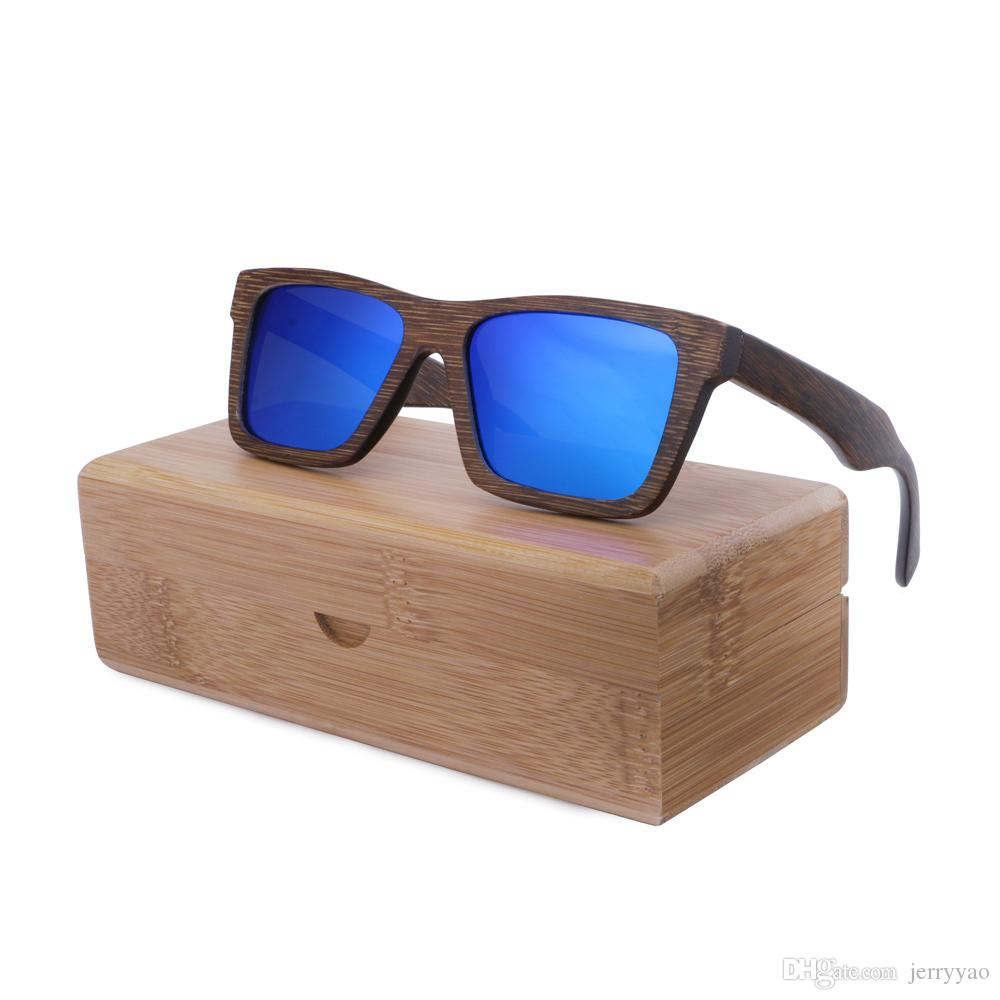 9327ff9d06 2018 New Fashion Bamboo Sunglasses Men Wooden Sun Glasses Women Designer  Original Wood Glasses Men Gafas Oculos De Sol Dragon Sunglasses Vintage  Sunglasses ...