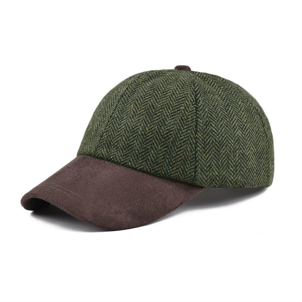 VOBOOM Wool Baseball Caps Green Men Women Herringbone Men s Wear ... 16eecf8f4563
