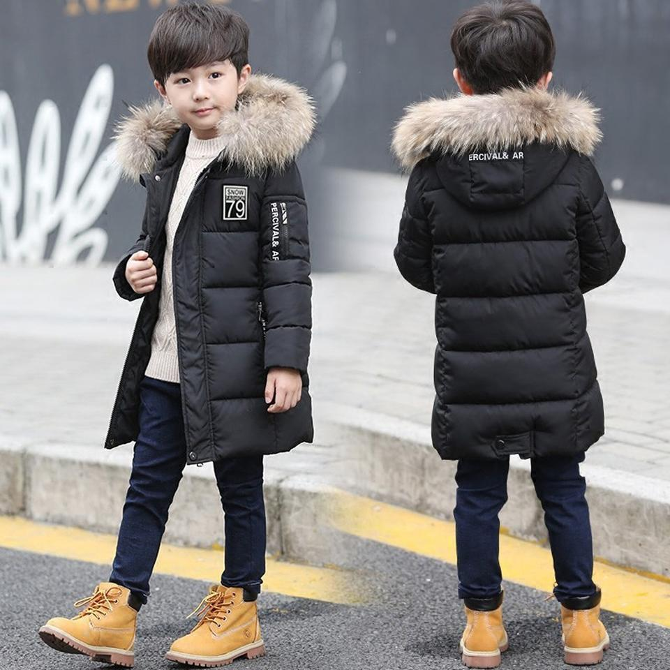 335c185ca 2018 New Winter Big Boy Warm Thick Jacket Outwear Clothes Cotton ...