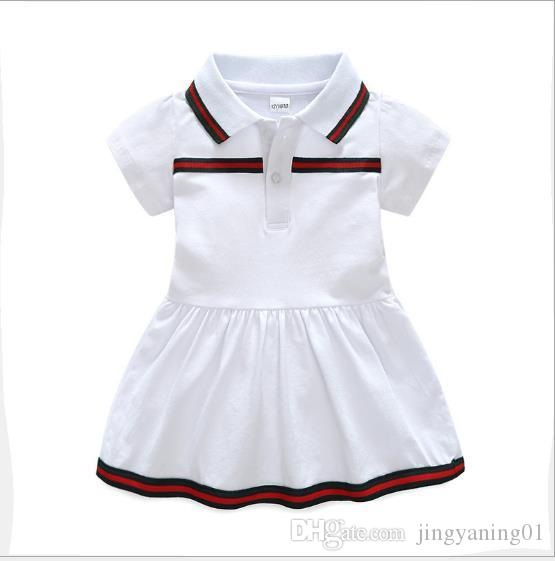 b2655ee81c342 2019 Best Selling New Summer Baby Dress 2019 Cotton Lapel Newborn Baby  Clothes 9 Months 3 Years Old Dress From Jingyaning01, $18.38 | DHgate.Com