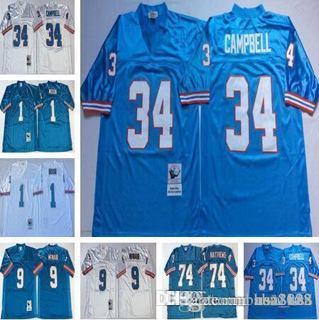 ... get tennessee oilers men retro jersey 1 warren moon houston 34 earl  campbell 74 bruce matthews c8a8a9bee