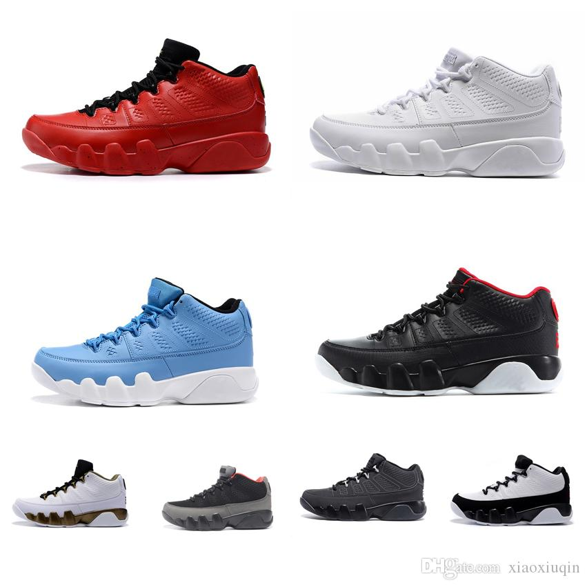 76c711d3a92644 2019 Mens Retro 9s Low Basketball Shoes J9 Mango Bright Red Black Red  Anthracite Bred Gold Spirit White Aj9 Jumpman IX 9 Sneakers Tennis With Box  From ...
