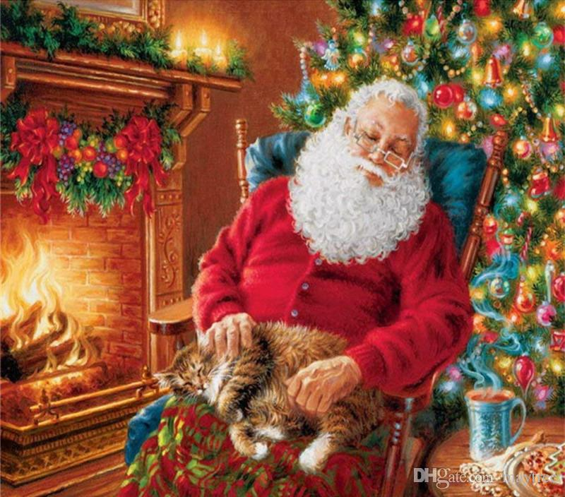 2019 Full Drill 5d Diamond Painting Christmas Santa Claus 6 Arts Craft For  Home Wall Decor Festival Gift DIY Diamond Painting Kits From Maytree d1bcd412c